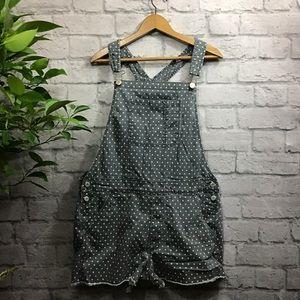 🌻 SALE! 3/$14 AEO Gray & green polka dot jumper